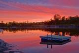 Swimming Raft In Sunrise 65817