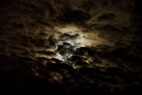 The Full Moon thru the clouds
