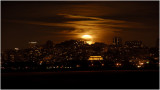 The Full Moon rising over the Exploratorium
