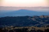 Mt Hamilton's Shadow across the valley