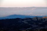 Mt Hamilton Shadow and downtown San Jose