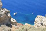 The wonderful blue water of the caldera