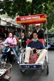 Pascal en cyclo-pousse, à Hanoi - Vietnam