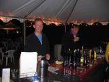 beer tent - ralph is happy