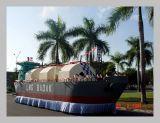 Kapal LNG naik ke darat