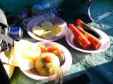 Menu sarapan pagi di Plawangan