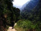 Walk to pelangi waterfall