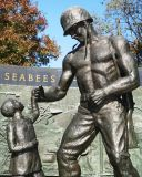 Detail from SEABEE Memorial