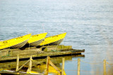 Three Yellow Boats