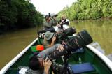 Kinabatangan - Sukau Nikon Gun Boat in Action
