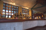 Main bar in the early evening