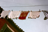 reflection of laundry