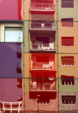 coloured windows reflected in Milano