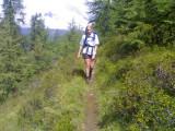 Meike onderweg naar Zupalsee Hütte