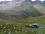 Blik vanaf de afdaling Virger Törl op Lasörlinghütte
