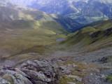 Vanaf Griften pas zicht op Zupalsee Hütte