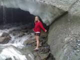 Meike bij Simony Kees(gletscher)