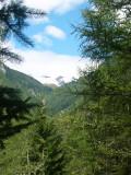 In het  Maurer Tal richting Essener und Rostocker Hütte zicht op gletschers