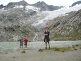 Willem en Meike in Simony See met Simony Kees(gletscher)  op de achtergrond