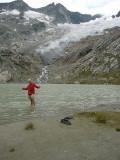 Hans in Simony See met Simony Kees(gletscher) op de achtergrond