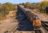 BNSF Grain Train at Harper KS