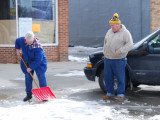 Scooping Snow in Onawa IA