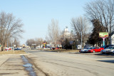 Onawa IA Main St in Winter
