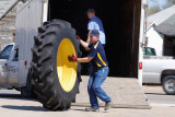 Unloading Tractor Tires
