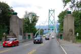 At the Approach to Lions Gate Bridge