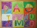 alphabet -fruits, Hugo, age:7