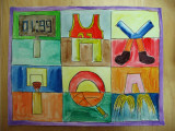 alphabet design - sports, Kelvin, age:12