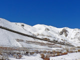 One of the massive snow gallaries in the Hindu Kush Mountains