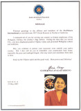 Message from President Gloria Arroyo