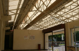 Main lobby entrance & energy efficient roofing