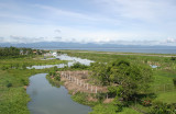 Dipolog River with runway 02 on right