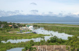 Dipolog River up close & runway 02 on the right side
