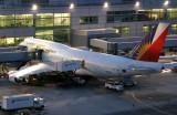 Being serviced between flights