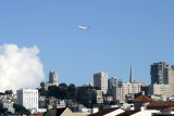 A-380 photo shoot over San Francisco. Very quiet giant!