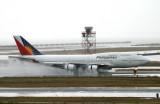 PR904 SFO landing on wet 19L runway