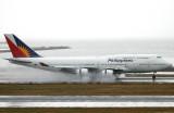 N754PR dramatic reverse thrust on a very wet SFO runway !