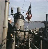 Hoisting the Flag at Bermuda, 1962.