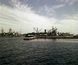 Newport , RI, Pier one  (Rare Color image)