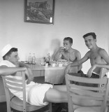 Three sailors in the Rec Room at Whiting Field, 1959