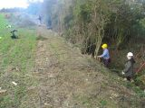 ... where we were clearing out a canal feeder.