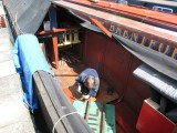 Notching the bearers where they rest on rivets