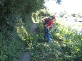 One of the jobs was to open up the towpath along the basin