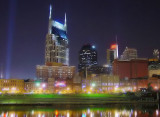Nashville Skyline after dark