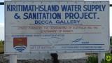 Kiritimati water supply sign