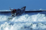 Coast Guard running waves in Humboldt Bay Channel