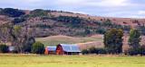 Rising Sun On A Barn In The Huntsville Area